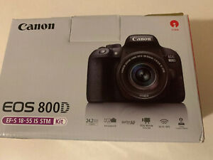CANON EOS 800D DSLR CAMERA WITH 18 55MM STM LENS PX