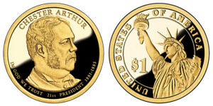 2012 S GEM PROOF CHESTER ARTHUR DCAM PRESIDENTIAL DOLLAR UNCIRCULATED COIN PF
