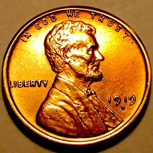 1919 D LINCOLN CENT   PENNY   CHOICE BU RED