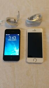 APPLE IPHONE 4 BLACK 16GB WORKING A1349 NICE  WHITE 5S NO PWR VERIZON PHONES LOT