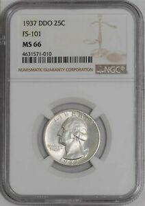 Click now to see the BUY IT NOW Price! 1937 WASHINGTON QUARTER 25C DDO FS 101 MS66 NGC 939166 2
