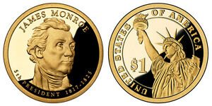 2008 S GEM PROOF JAMES MONROE CAMEO PRESIDENTIAL DOLLAR UNCIRCULATED COIN PF