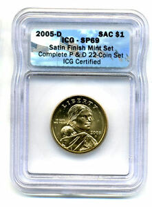 ICG SP69 2005 D SACAGAWEA GOLDEN DOLLAR GEM UNCIRCULATED SATIN FINSH COIN965
