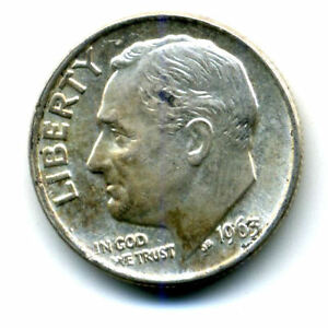 1963 P ROOSEVELT DIME SILVER 10 CENT SHARP ABOVE AVERAGE DETAIL NICE COIN414