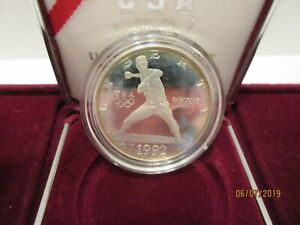 1992 UNITED STATES OLYMPIC SILVER DOLLAR PROOF COIN NEW IN BOX