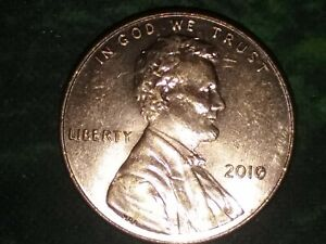 2010 U S PENNY ERROR BROKEN PEELED COPPER PLATING ON DATE CIRCULATED