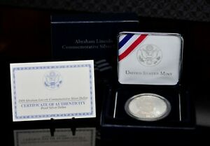 2009 P ABRAHAM LINCOLN COMMEMORATIVE PROOF SILVER DOLLAR OGP [129DUD]
