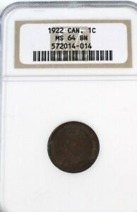 Click now to see the BUY IT NOW Price! CANADA 1922 SMALL 1 CENT GRADED NGC MS64 BN