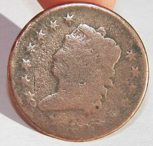 1810 CLASSIC HEAD ONE CENT COPPER LARGE CENT COIN 1C US COIN GOOD CIRCULATED