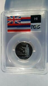 2008 S FLAG SERIES 25C PCGS PR69DCAM HAWAII SILVER QUARTER
