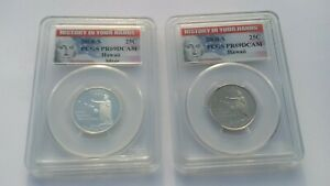 HISTORY IN YOUR HANDS 2008 S 25C PCGS PR69DCAM HAWAII SILVER & CLAD QUARTER SET