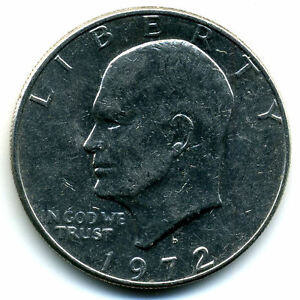 NICE 1972 D EISENHOWER DOLLAR CHOICE BRILLIANT UNCIRCULATED MINT STATE COIN4889