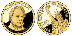 2010 S GEM PROOF JAMES BUCHANAN DCAM PRESIDENTIAL DOLLAR UNCIRCULATED COIN PF