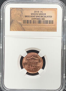 2010 1C UNION SHIELD PENNY ONE CENT NGC BRILLIANT UNCIRCULATED