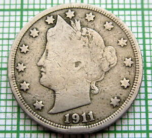 UNITED STATES 1911 5 CENTS   LIBERTY NICKEL