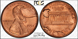 Click now to see the BUY IT NOW Price! PCGS 1994 MS65RD ERROR OBV & REV INDENTED BY DETACHED STRUCK PIECES 2.5 GRAMS