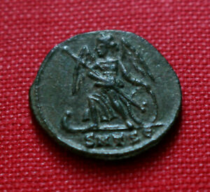 Click now to see the BUY IT NOW Price! GENUINE R2 VF ROMAN COIN CONSTANTINOPOLIS FOLLIS HELLESPONT BATTLE THESSALONICA