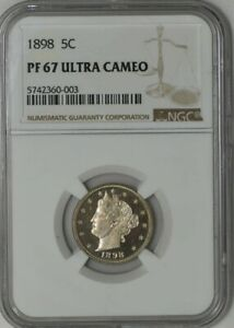 Click now to see the BUY IT NOW Price! 1898 LIBERTY NICKEL 5C PF67 ULTRA CAMEO NGC 941394 5