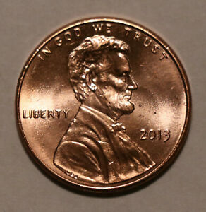 2013 LINCOLN SHIELD CENT BU UNCIRCULATED