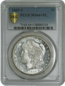 Click now to see the BUY IT NOW Price! 1885 S MORGAN DOLLAR $ MS64  PL PROOF LIKE SECURE PLUS PCGS 941926 17