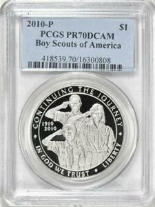 Click now to see the BUY IT NOW Price! 2010 P BOY SCOUTS COMMEMORATIVE PROOF SILVER DOLLAR PCGS PR70DCAM