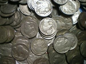 1919 TO 1938 FULL DATE BUFFALO NICKEL LOT / 1000 COINS