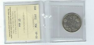Click now to see the BUY IT NOW Price! 1932 CANADA FIFTY CENT SILVER COIN ICCS VF TOUGH KEY DATE IN AFFORDABLE GRADE