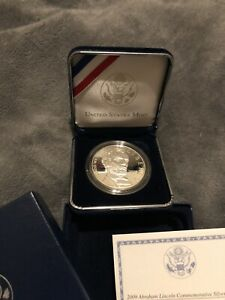 2009 ABRAHAM LINCOLN COMMEMORATIVE PROOF SILVER DOLLAR