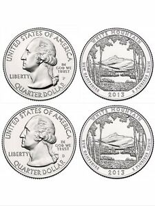 2013 P&D WHITE MOUNTAIN AMERICA THE BEAUTIFUL QUARTER SET FROM US MINT BAGS BU