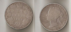 CANADA 50 CENTS 1881 H