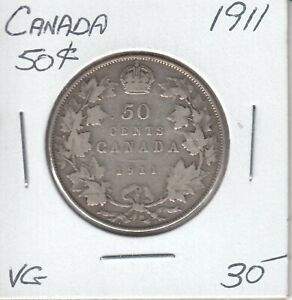 CANADA 50 CENTS 1911   VG