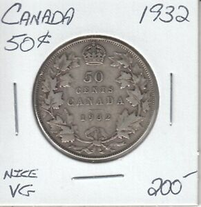 CANADA 50 CENTS 1932   NICE VG