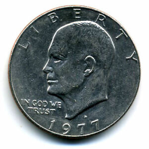 NICE 1977 D EISENHOWER DOLLAR CHOICE BRILLIANT UNCIRCULATED MINT STATE COIN4764