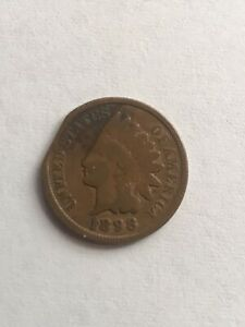 1898 INDIAN HEAD CENT ERROR ONE OF A KIND