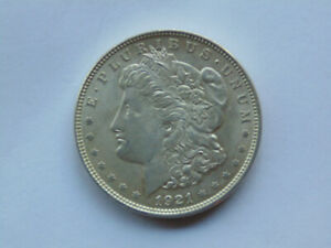 1921 MORGAN SILVER DOLLAR EXCELLENT DETAIL PHILADELPHIA FREE SHIP TO US