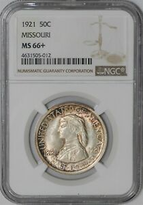 Click now to see the BUY IT NOW Price! 1921 MISSOURI 50C MS66  NGC 938855 66