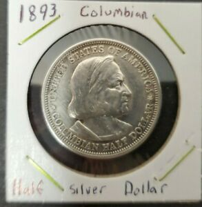 1893 WORLD'S COLUMBIAN EXPOSITION COMMEMORATIVE SILVER HALF DOLLAR US MINT