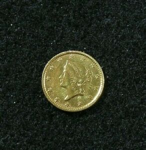 1854     LIBERTY HEAD   $1 GOLD      JEWELRY COIN    TYPE 1