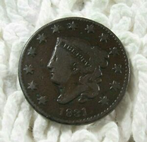 1831 N 11 R 2     LARGE CENT     VG     REVERSE CUD
