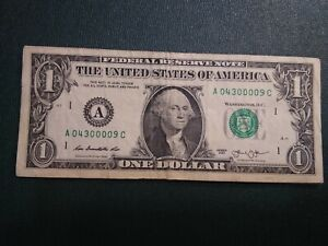 00000'S $ ONE DOLLAR  L 05027000 FRN SUPER REPEATER 5  00 'S SERIAL NR