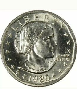 1980 P MINT SUSAN B ANTHONY WIDE RIM ERROR COIN BU UNCIRCULATED MINT STATE