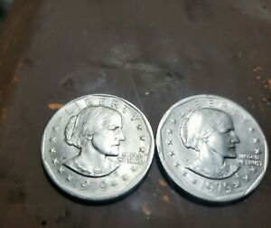 SUSAN B ANTHONY 1979 S $1 DOLLAR DEFECTIVE  STRIKE ERROR COIN WR & NR