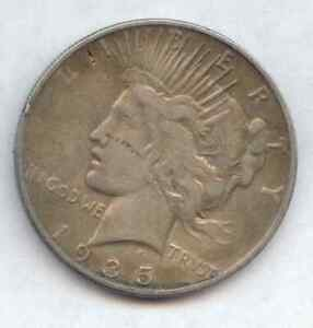 1935 S SILVER PEACE DOLLAR $1 COIN CIRCULATED W FLAWS