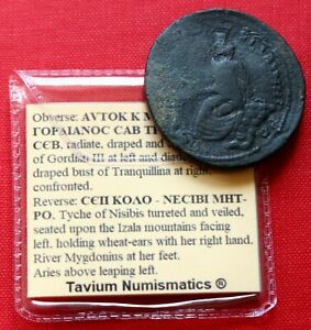 Click now to see the BUY IT NOW Price! GENUINE ROMAN COIN 244AD GORDIAN III TRANQUILLINA SESTERTIUS NISIBIS MESOPOTAMIA