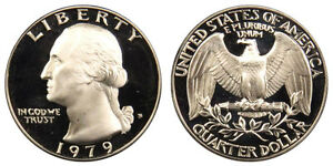 1979 S GEM BU PROOF WASHINGTON QUARTER BRILLIANT UNCIRCULATED 25 CENT COIN PF