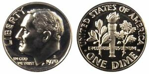 1970 S GEM BU PROOF ROOSEVELT DIME 10 CENT BRILLIANT UNCIRCULATED US COIN PF