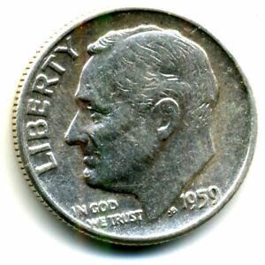 1959 P ROOSEVELT DIME SILVER 10 CENT SHARP ABOVE AVERAGE DETAIL NICE COIN4466