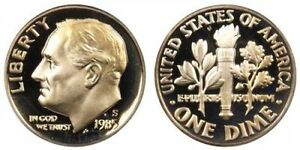 1985 S GEM BU PROOF ROOSEVELT DIME 10 CENT BRILLIANT UNCIRCULATED US COIN PF