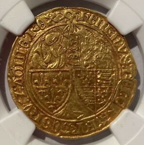 Click now to see the BUY IT NOW Price! ANGLO GALLIC GOLD SALUT D'OR 1422 50 HENRY VI LEMANS MINT   NGC AU DETAILS