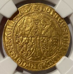 Click now to see the BUY IT NOW Price! ANGLO GALLIC GOLD 1S'OR 1422 50 FR301 HENRY VI   NGC XF DETAILS